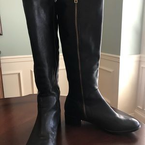 Steve Madden boots - black leather riding boots